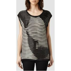 All Saints Hand Embellished Beaded Arianna Blouse